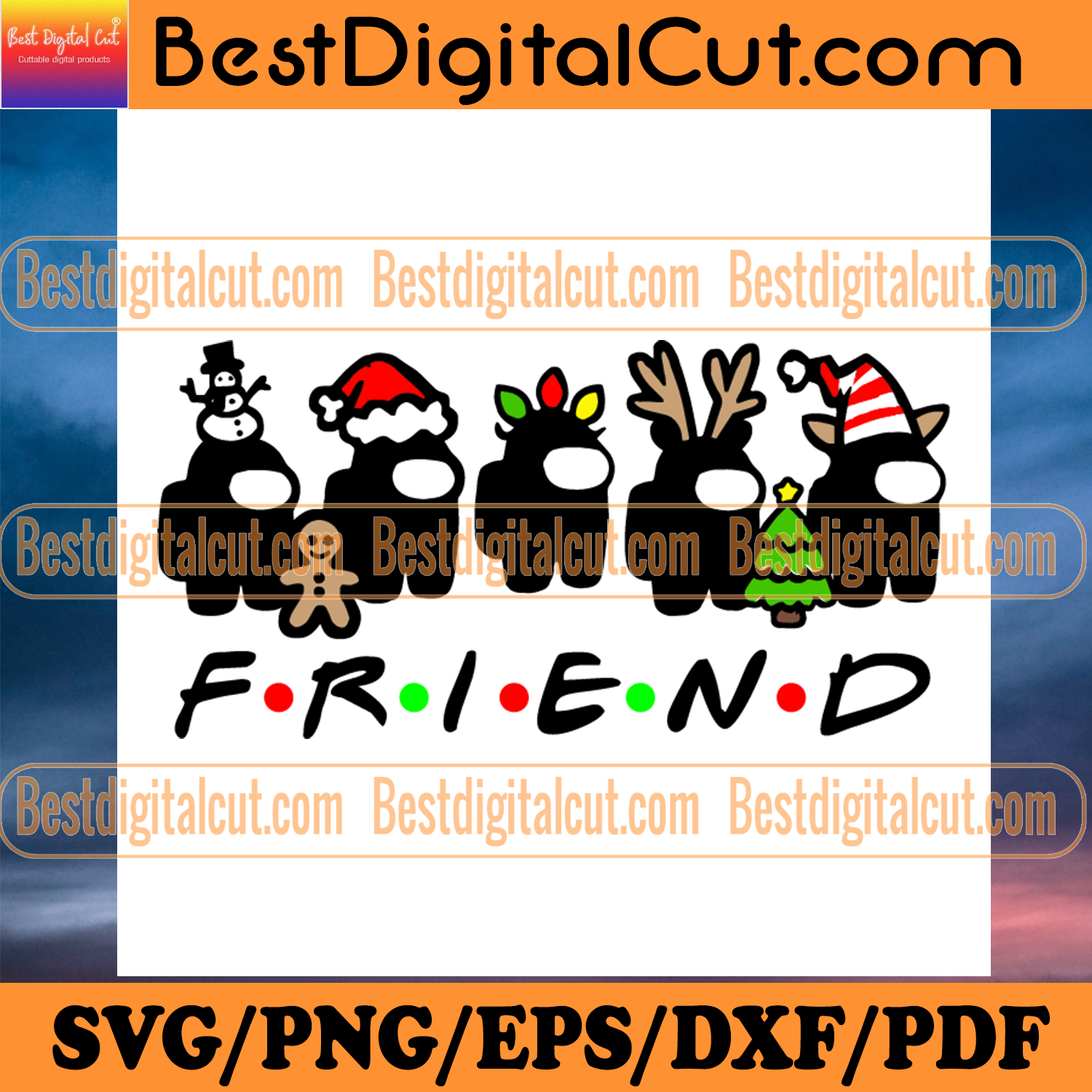 Among Us Christmas Friend Svg, Christmas Svg, Xmas Svg, Christmas Gift, Merry Christmas, Among Us Svg, Impostor Svg, Christmas Among Us, Friends Svg, Friends Gift, Among Us Gift