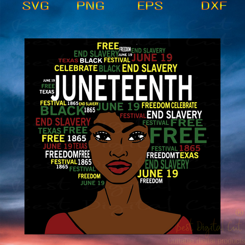 Black Woman Svg, Juneteenth Day, Juneteenth Day Svg, Black Lives Matter, Afro Woman, African American, Juneteenth Png, Black History, Black Girl Svg, Black Queen, Black Melanin, Independence Day