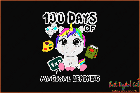 100 Days Of Magical Learning, Happy 100th Day Of School,100th Day Of School Svg