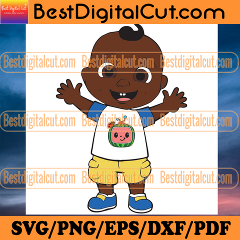 Cute Black Cocomelon JJ Svg, Trending Svg, Cocomelon JJ Svg, Black JJ Svg, Cute JJ Svg, Black Kid Svg, Black Toddler Svg, Cocomelon Nursery Rhymes, Cocomelon Svg, Cocomelon Song Svg