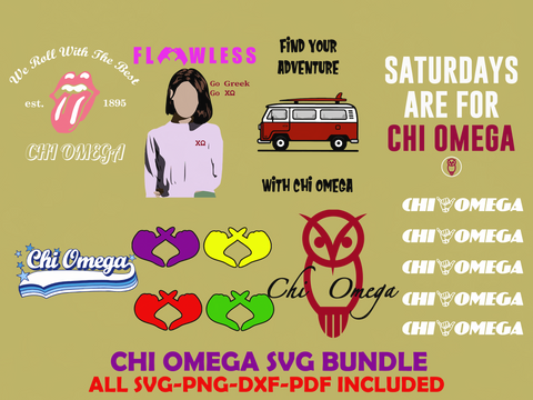 Chi omega sorority bundle svg, Chi omega gift, Chi omega shirt, Alpha Chi omega svg, Chi omega sorority,chi omega decal, sorority svg, sor