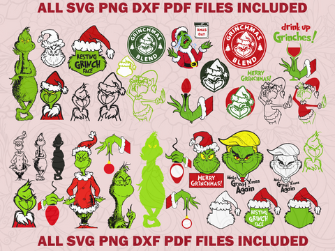 Christmas Svgs Hallmark Svg Hallmark Christmas Svg Best Digital Cut Tagged Grinch Bundle Svg Best Digital Cut