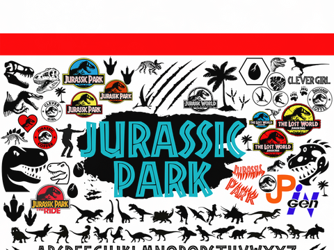 Jurassic park svg bundles, walking the park, dinosaur clipart, dinosaur party, dinosaur birthday, jurassic world svg, jurassic svg, jur