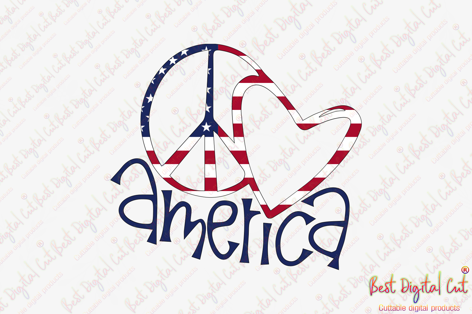 Download Peace Love America Peace Love Svg Independence Day Svg Independence Best Digital Cut