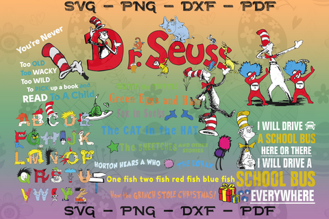Dr Seuss svg bundle, dr Seuss svg, Dr Seuss gift, Dr Seuss birthday, Dr Seuss print, Dr Seuss poster, thing one thing two, thing 1 thing 2