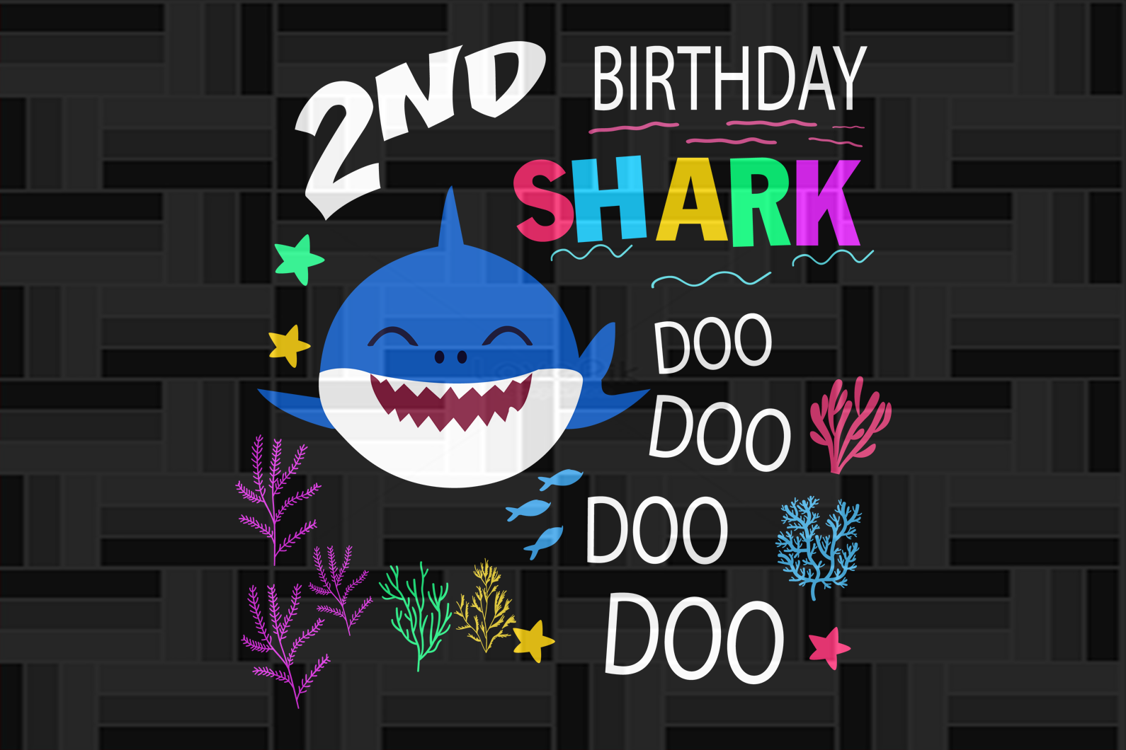 2nd birthday shark doo, born in 2018, 2017 svg, 2nd birthday svg, 2nd birthday gift, 2nd birthday shirt, birthday anniversary, birthday party, shark svg, shark silhouette, cute shark, gift for kids, gift from parents, digital file, vinyl for cricut,