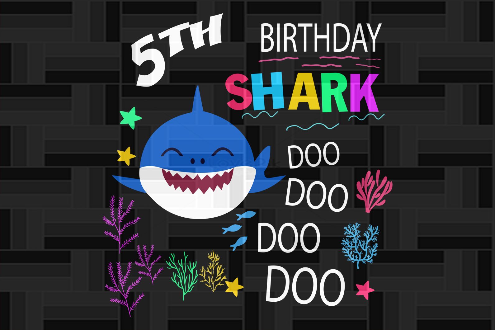 5th birthday shark doo, born in 2015, 2014 svg, 5th birthday svg, 5th birthday gift, 5th birthday shirt, birthday anniversary, birthday party, shark svg, shark silhouette, cute shark, gift for kids, gift from parents, digital file, vinyl for cricut,