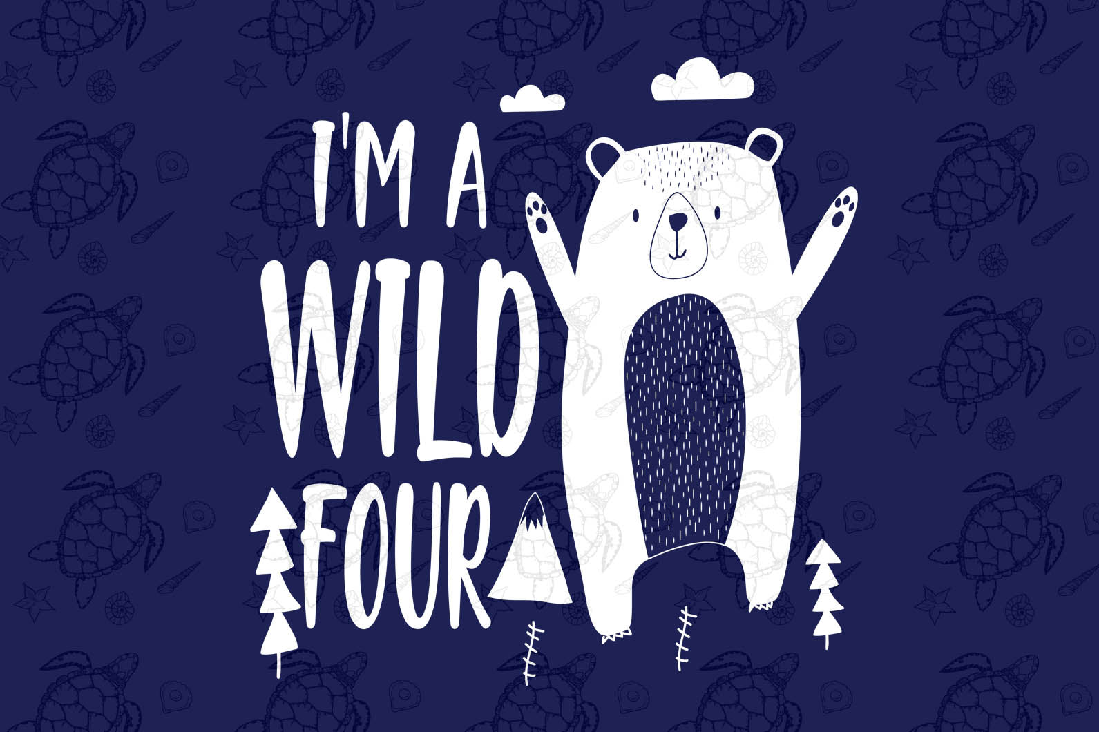 I'm a wild four, born in 2016, 2015 svg, 4th birthday party, 4th birthday gift, birthday shirt, birthday anniversary, teddy bear, bear svg, bear birthday, gift for kids, gift from parents, digital file, vinyl for cricut,