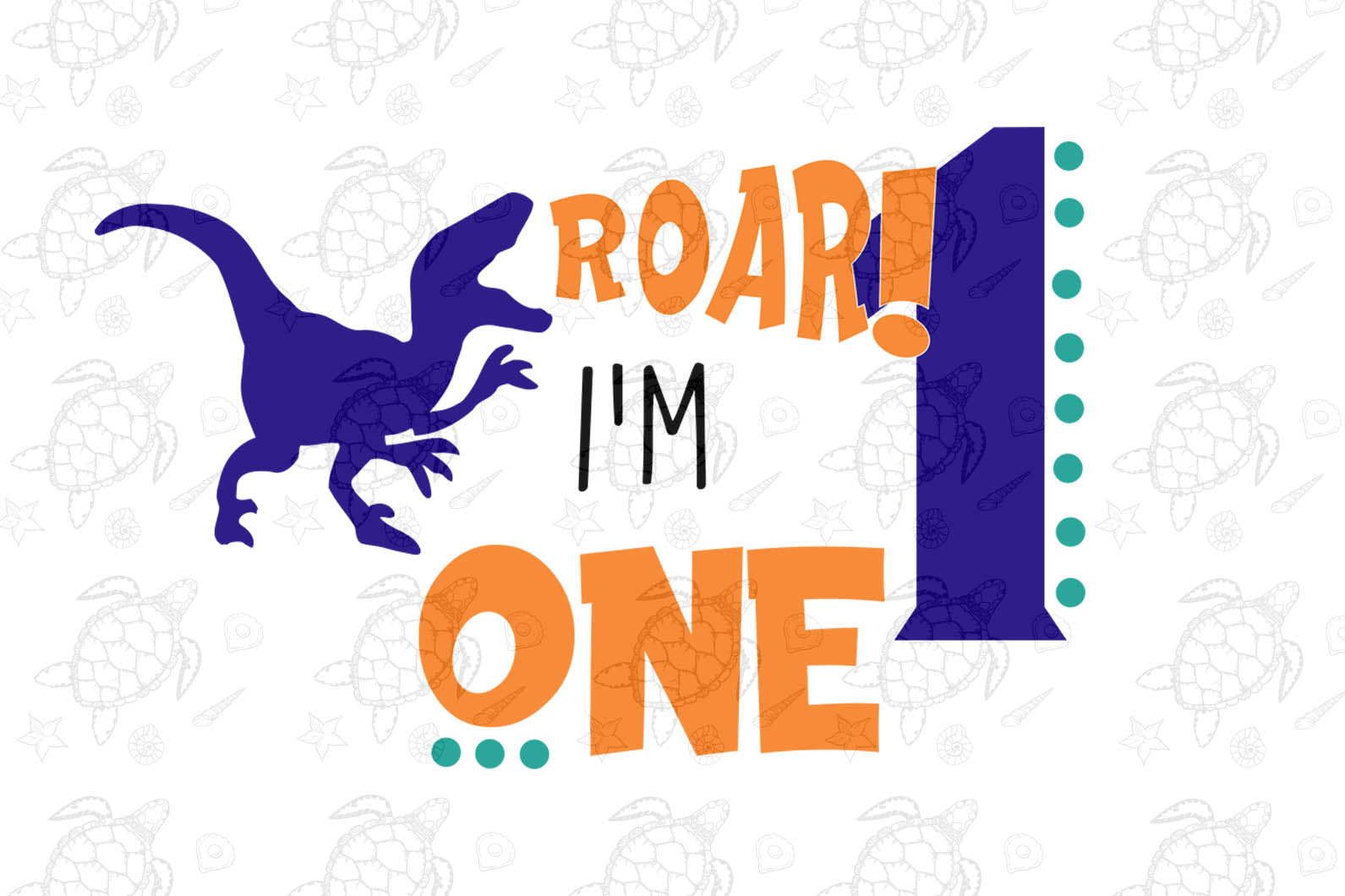 I'm one hear me roar, born in 2020, 2018 svg, 1st birthday party, 1st birthday gift, birthday shirt, birthday anniversary, dinosaur, dinosaur svg, dinosaur birthday, gift for kids, gift from parents, digital file, vinyl for cricut