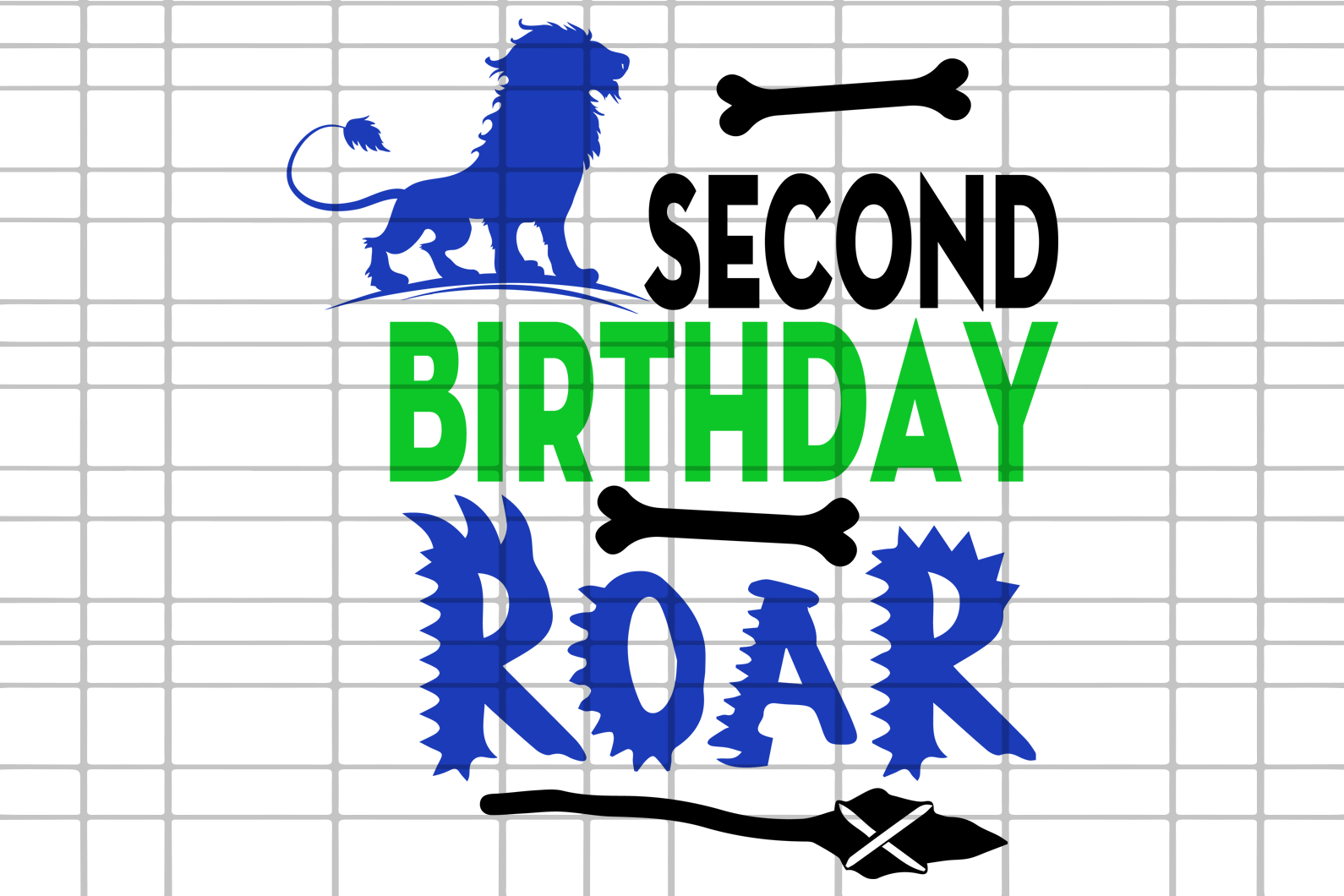 Second  birthday roar,dinosaur svg,birthday svg,birthday boy svg,2nd birthday,birthday anniversary,two years,svg cut files, svg clipart, silhouette svg, cricut svg files, decal and vinyl