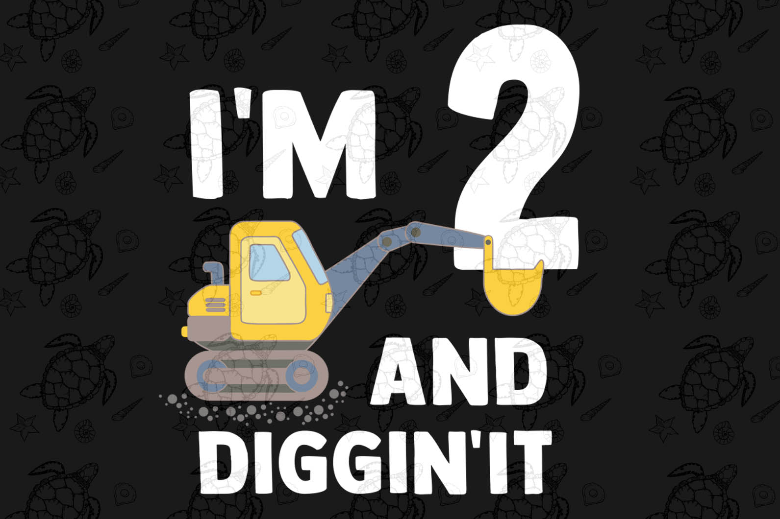 I am two and diggin'it svg,excavator 2 years,2 years old excavator,excavator svg,2nd birthday party, 2nd birthday gift, birthday anniversary, birthday shirt, ideal gift, digital file, vinyl for cricut,