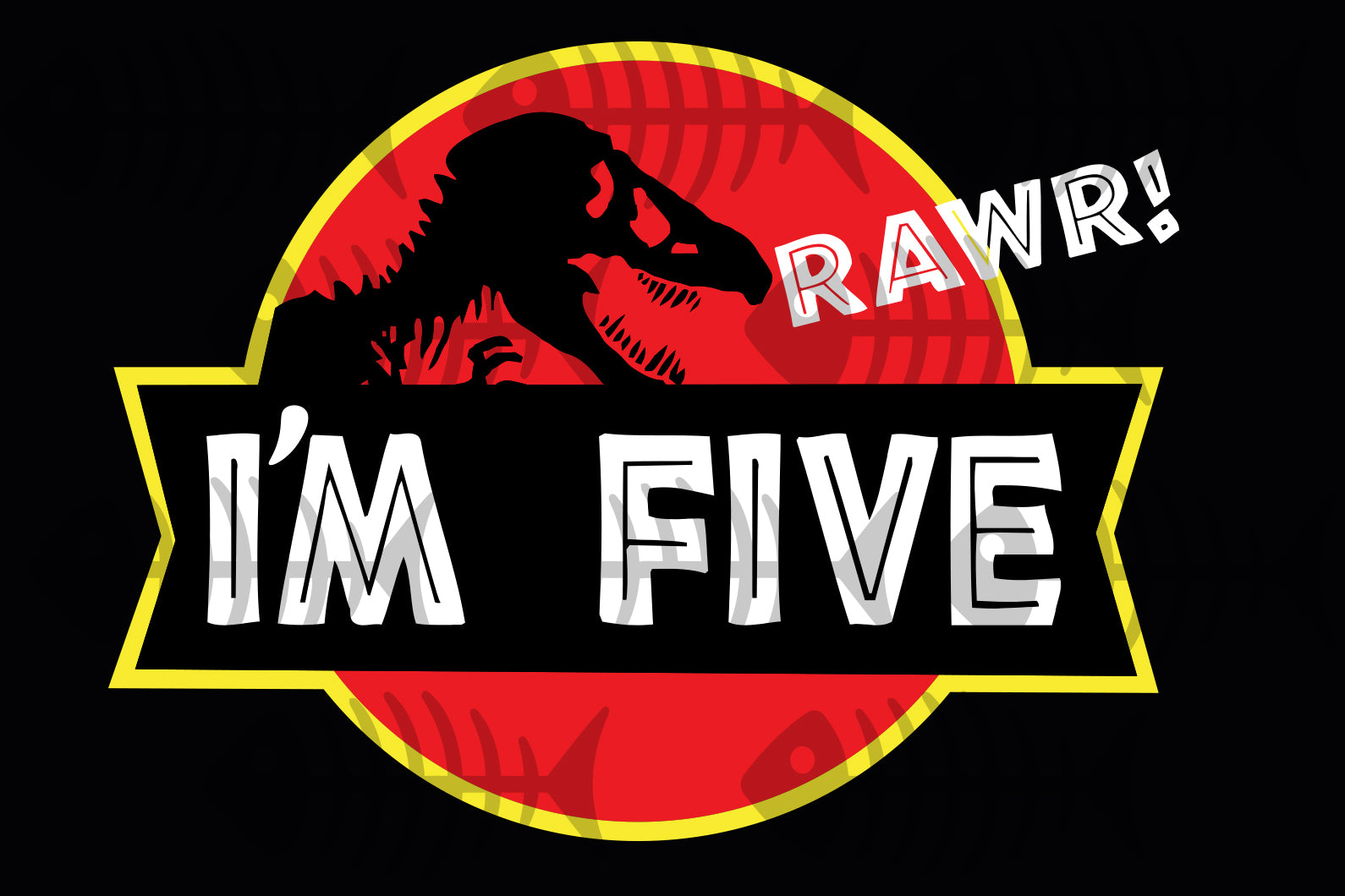 I am five rawr,dinosaur svg,birthday svg,birthday boy svg,5st birthday,birthday anniversary,svg cut files, svg clipart, silhouette svg, cricut svg files, decal and vinyl