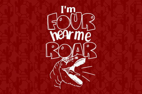 I'm four hear me roar, born in 2016, 2015 svg, 4th birthday party, 4th birthday gift, birthday shirt, birthday anniversary, dinosaur, dinosaur svg, dinosaur birthday, gift for kids, gift from parents, digital file, vinyl for cricut,