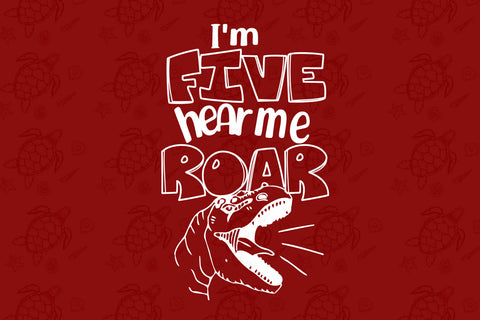 I'm five hear me roar, born in 2015, 2014 svg, 5th birthday party, 5th birthday gift, birthday shirt, birthday anniversary, dinosaur, dinosaur svg, dinosaur birthday, gift for kids, gift from parents, digital file, vinyl for cricut,