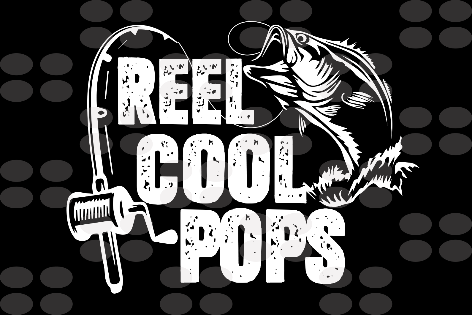 Reel cool pops svg, dad shirt, dad gift, awesome dad, dad birthday, father's day gift, fishing svg, fishing rod print, fish silhouette, fishing lover gift, fishing lover shirt, gift from children, digital file, svg cut files