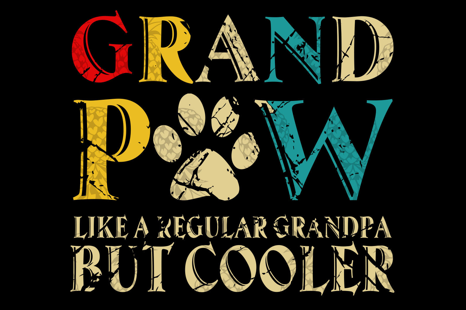 Grandppaw like regular grandpa svg,Happy father's day,fathers day gift,happy fathers day,love father,grandpaw gift,fathers day shirt,dog funny svg,happy fathers day gift,daddy svg,love grandpa, grandpa gift