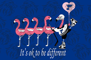 It's ok to be different svg,love golf,flamingo svg, flamingo lover gift, flamingo halloween,pink flamingo,flamingo party,halloween flamingo ,digital file, vinyl for cricut, svg cut files, svg clipart, silhouette svg, cricut svg files,