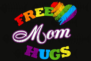 Free mom hugs,lgbt svg,lgbt heart svg,lgbt mom gift, pride mom shirt,trans awareness svg,pride gay shirt, pride lesbian svg, rainbow love, gift for mom, love mom, besexual svg, lesbian love, equal right, digital file, vinyl for cricut, svg cut files,