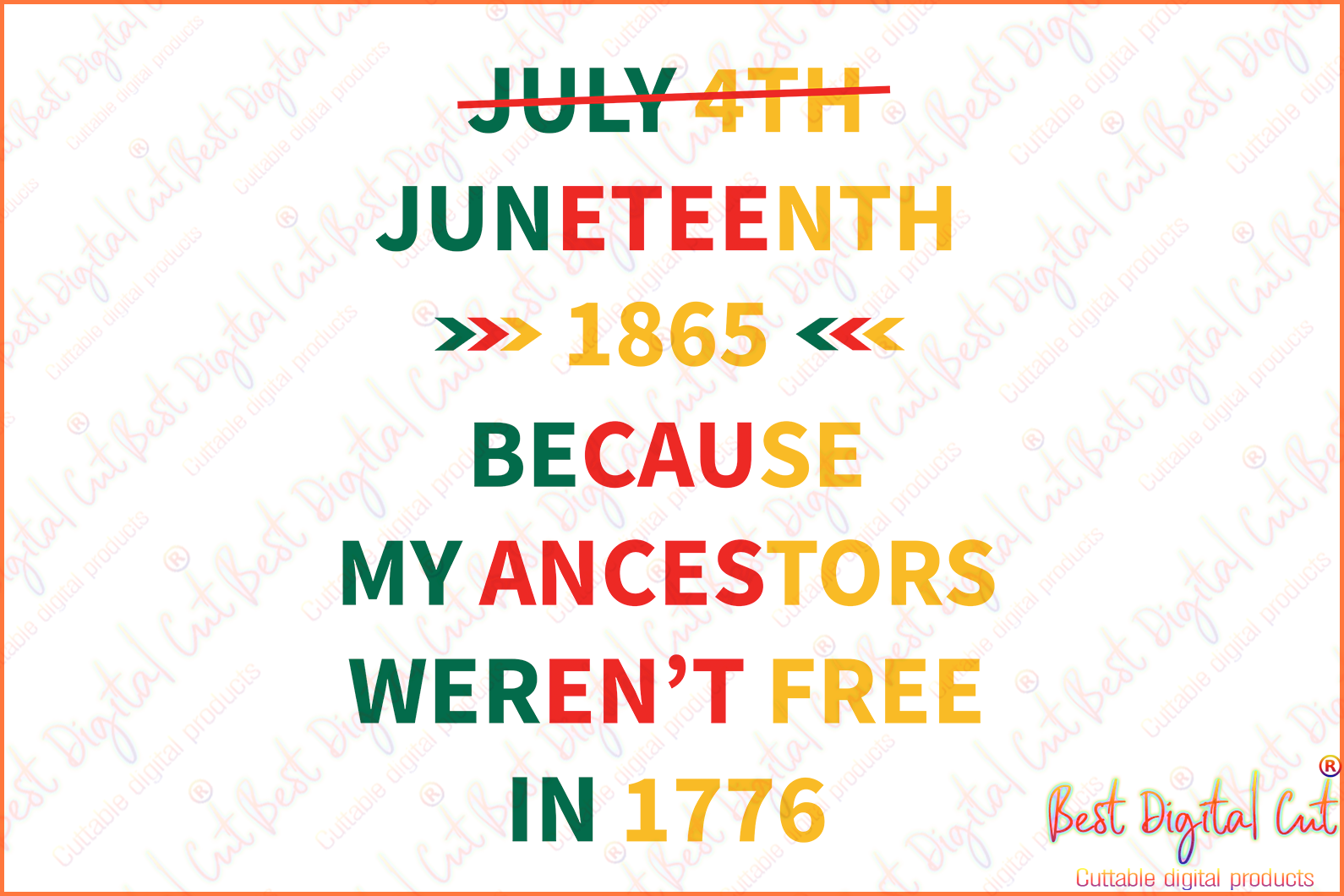 Juneteenth 1865 because my ancestors svg,freedom day svg,jubilee day svg,American holiday,June 19th svg,1776 July 4th,emancipation day svg,independence day svg,black African hands,American pride gift,black lives matter shirt,black history month