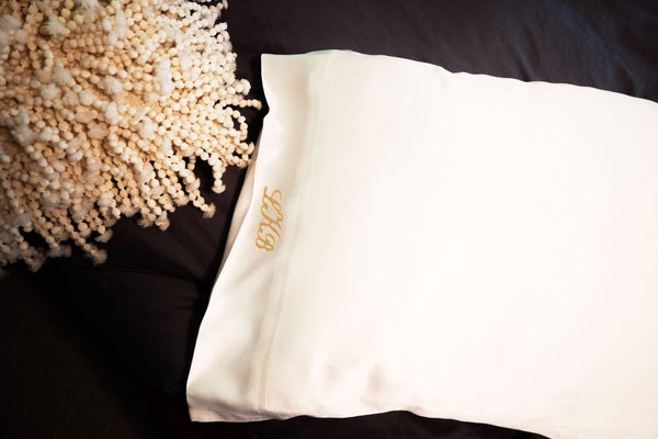 Monogrammed Silk Pillowcase