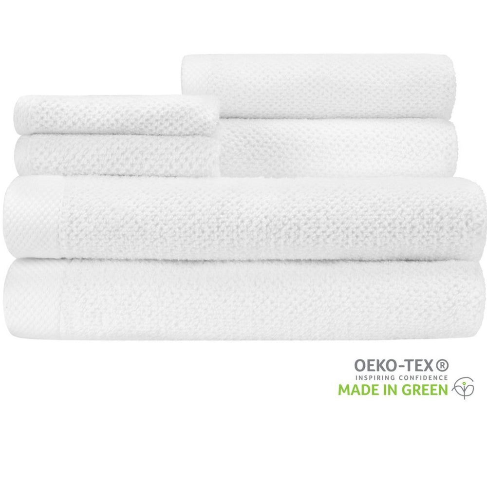 Bamboo and Cotton Naturally Anti-Microbial Imported 6-Piece Towel Set