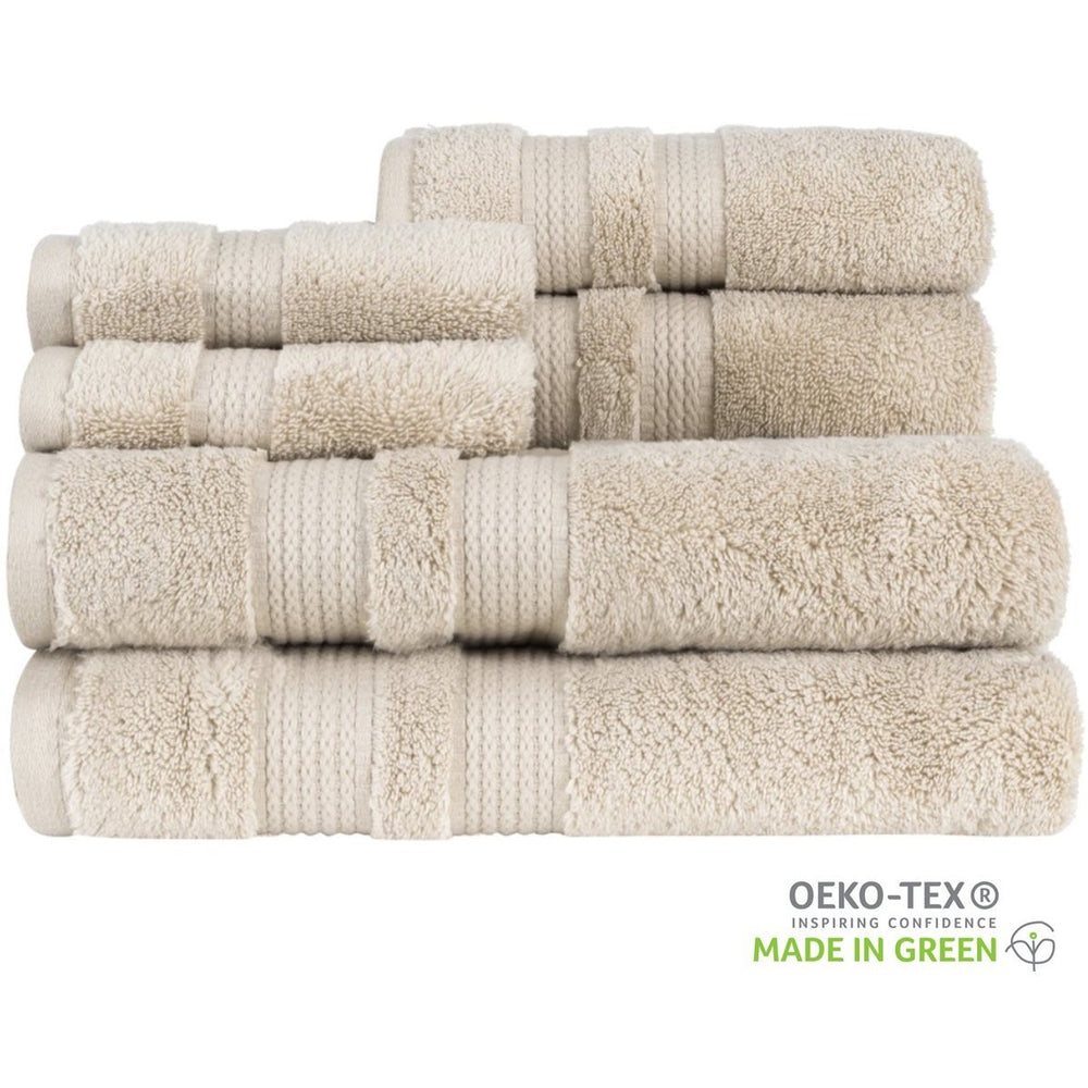 "Load image into Gallery viewer, ""Made in Green"" Eco Zero Twist Cotton Super Plush 6 Piece Towel Set - TowelsbyGUS"
