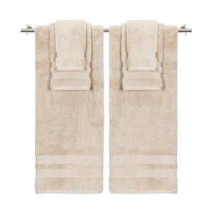 """Made in Green"" Eco Zero Twist Cotton Super Plush 6 Piece Towel Set - TowelsbyGUS"