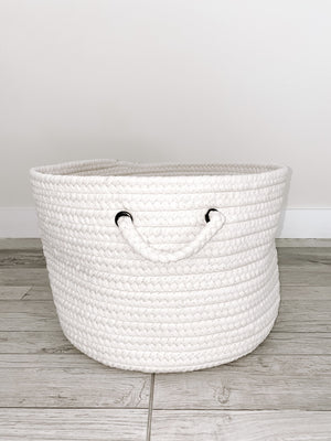 Made in the USA Baskets - Solid - White - American Home USA