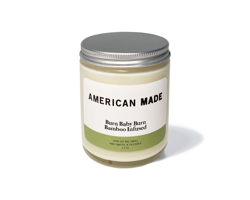 American Made Burn Baby Burn Bamboo Infused Candles - Made in the USA