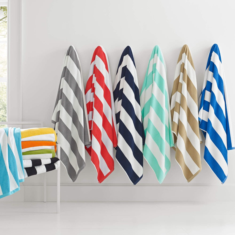 Premium Cabana Stripe Beach Towels 100% Imported Turkish Cotton