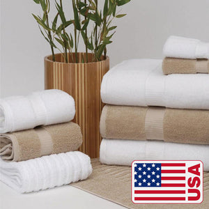 Hotel Collection 100% Organic Cotton Bath Towel Made in the USA - TowelsbyGUS