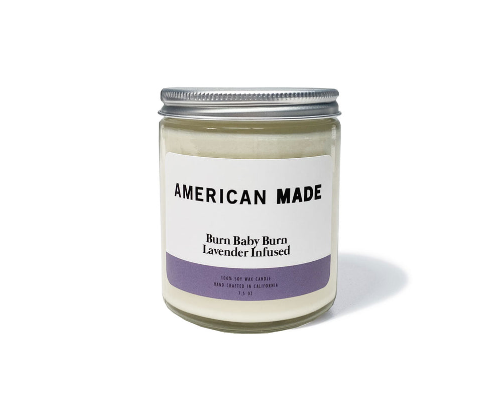 American Made Burn Baby Burn Lavender Infused Candles - Made in the USA