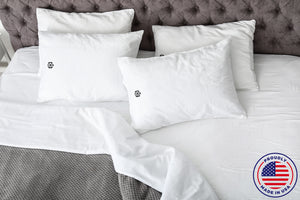 New! Made in the USA 100% Organic Cotton Monogrammed Pillowcases