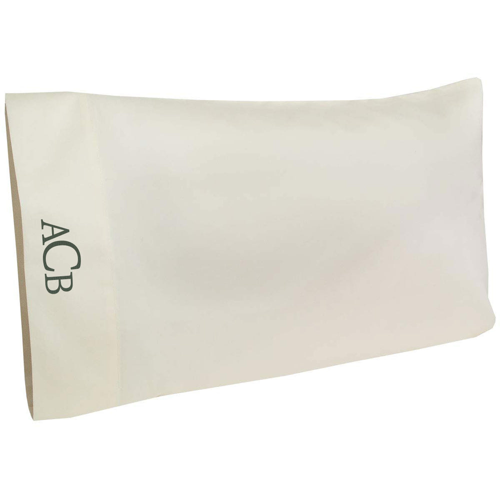 New! Made in the USA 100% Organic Cotton Monogrammed Pillow Cases | Towels by GUS