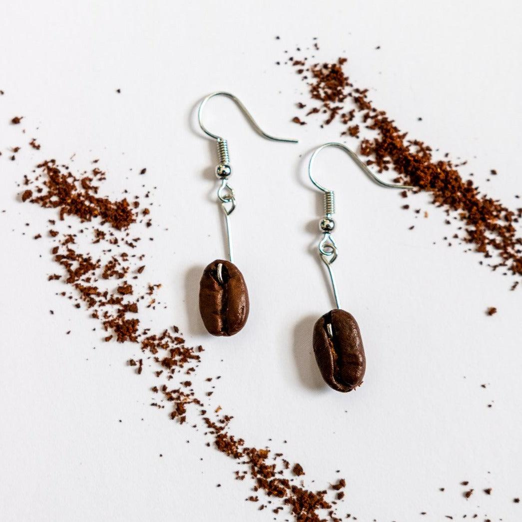 Drop Coffee Earrings