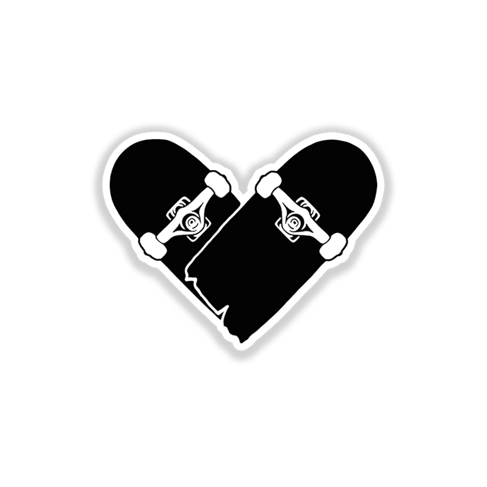 Skate Heart Stickers