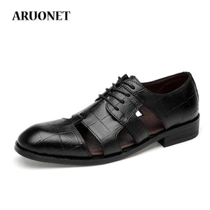 Famous Brand Hollow Out Shoes Mens Dress