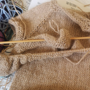 I finally dusted off my knitting needles!