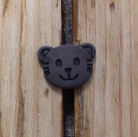 Bear face buttons (brown)