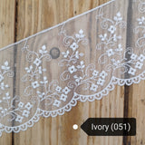 Lace tulle - scallop and small flower design