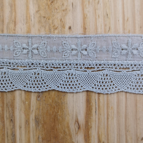 Delicate Stephanoise Lace - Grey
