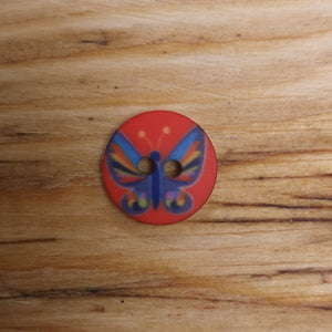 Butterfly 12mm Button