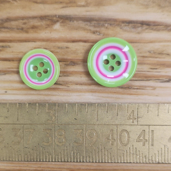 Coloured Rings Button