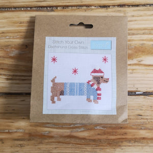 Cross Stitch Kits - Dachsund Cross Stitch Mini Kits