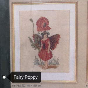 Cross Stitch Kits - Fairy Poppy Cross Stitch Kit (50x60cm)