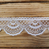 Embroidered Lace - Embroidered Tulle Lace - Fan And Scallop
