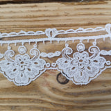 Embroidered Tulle Lace - ivory 50mm