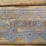 Embroidered Tulle Lace - grey 95mm