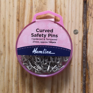 Hemline Curved Safety Pins