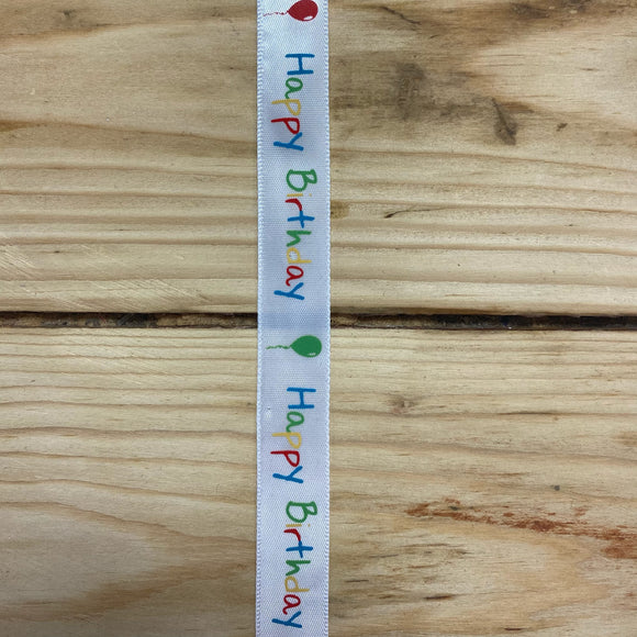 'Happy birthday' ribbon
